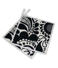 grytlapp svart och vit