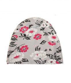 trikåmössa pink flower