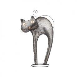 dekoration katt silver