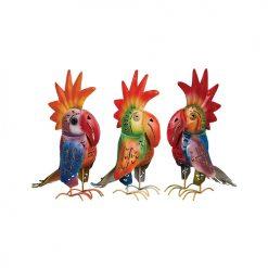 dekoration färgglada papegojor