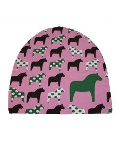 mössa dalahästar rosa